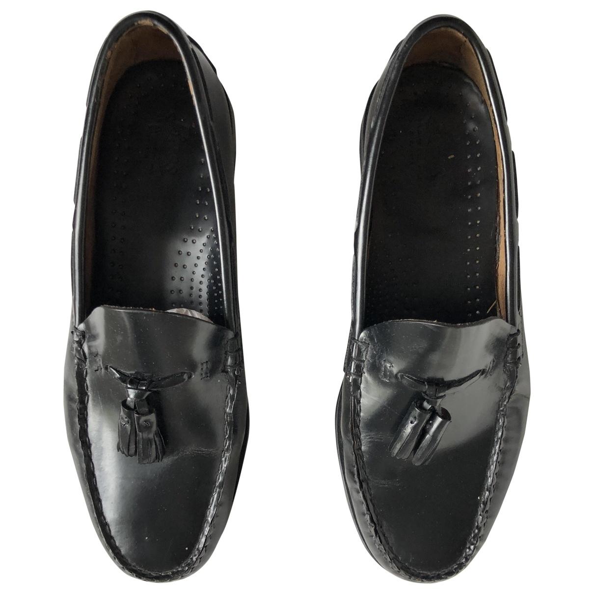 Bass Weejun \N Black Leather Flats for Men 43 EU