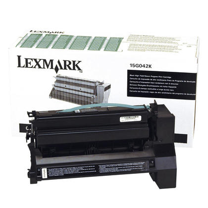 Lexmark 15G042K Original Black Return Program Toner Cartridge High Yield
