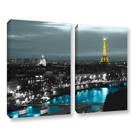 Brushstone Paris 2-pc. Gallery Wrapped Canvas WallArt, One Size , Blue
