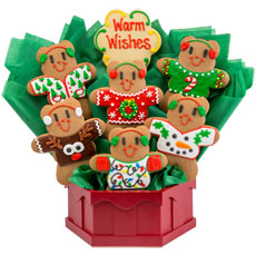 Ugly Sweater Cookie Bouquet