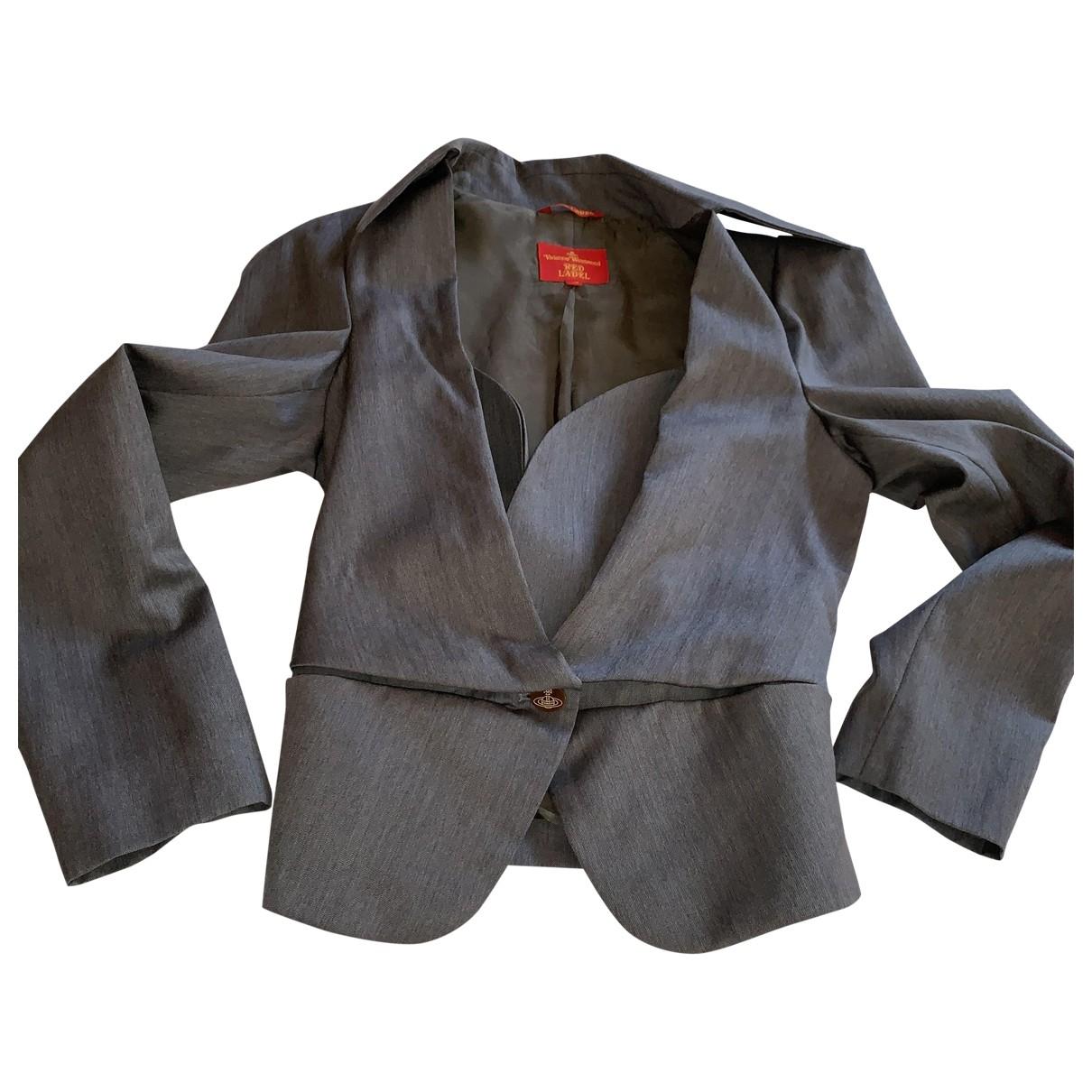 Vivienne Westwood Red Label \N Jacke in  Grau Wolle