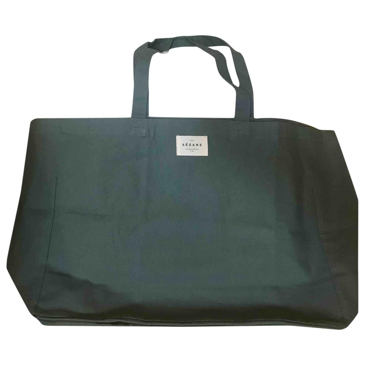 Sezane \N Handtasche in  Khaki Baumwolle
