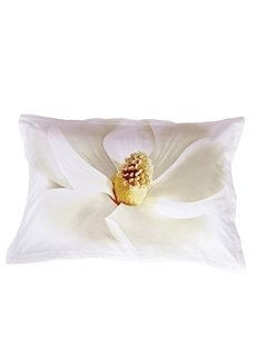 Cotton White Flower Skin Care 2-Piece Pillowcases