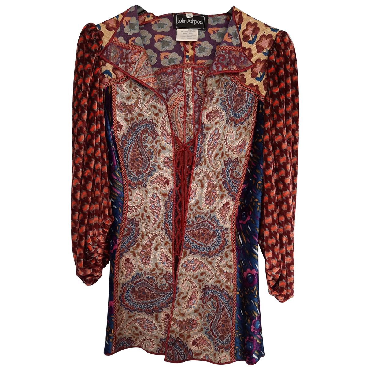 Non Signé / Unsigned N Multicolour Linen  top for Women S International