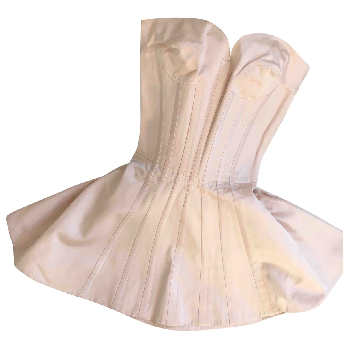 Claude Montana \N Pink Silk dress for Women 34 FR