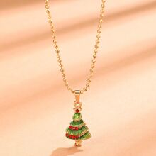 Christmas Tree Pendant Chain Necklace