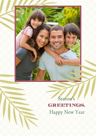 Holiday Photo Cards 5x7 Cards, Premium Cardstock 120lb with Scalloped Corners, Card & Stationery -Greetings