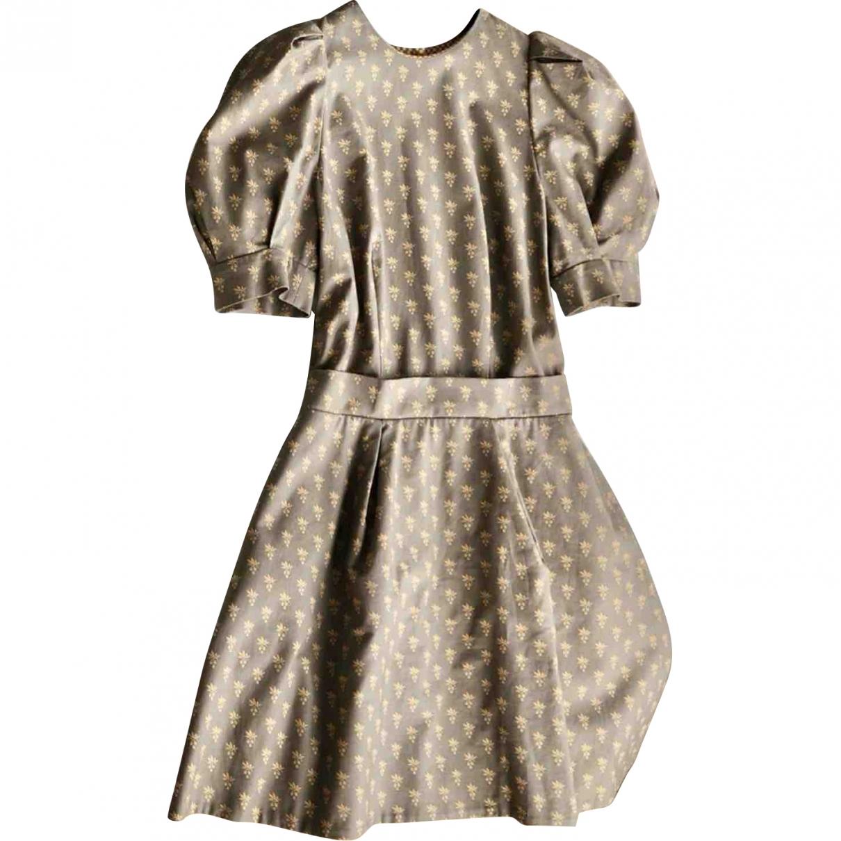 Ulyana Sergeenko \N Beige Cotton dress for Women 38 FR