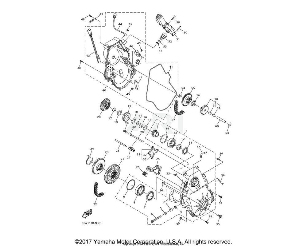 Yamaha OEM 8JP-RAF04-00-00 O-RING, 2