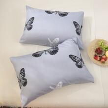 1 Paar Kissenbezug mit Schmetterling Muster ohne Fuellstoff