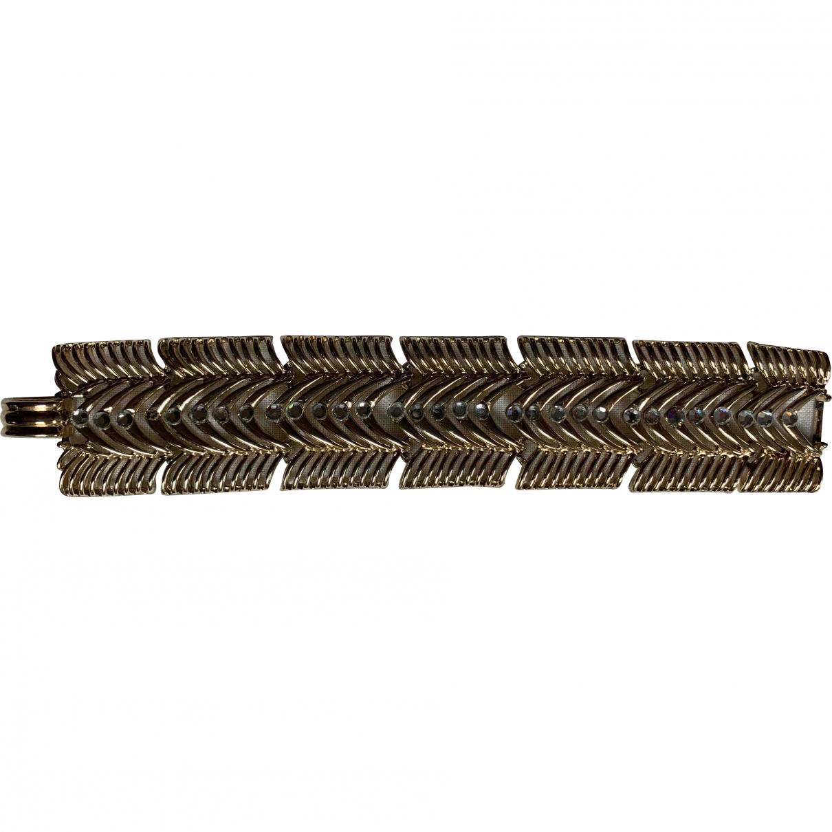 Trifari - Bracelet   pour femme en metal - dore