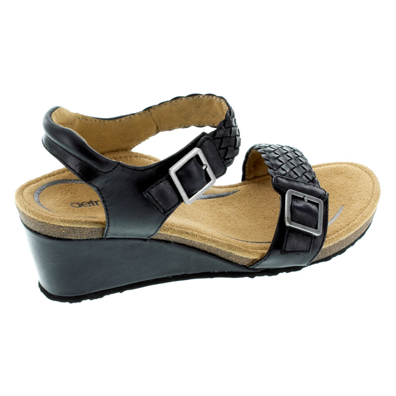 Aetrex Grace Black Leather High Heel 39