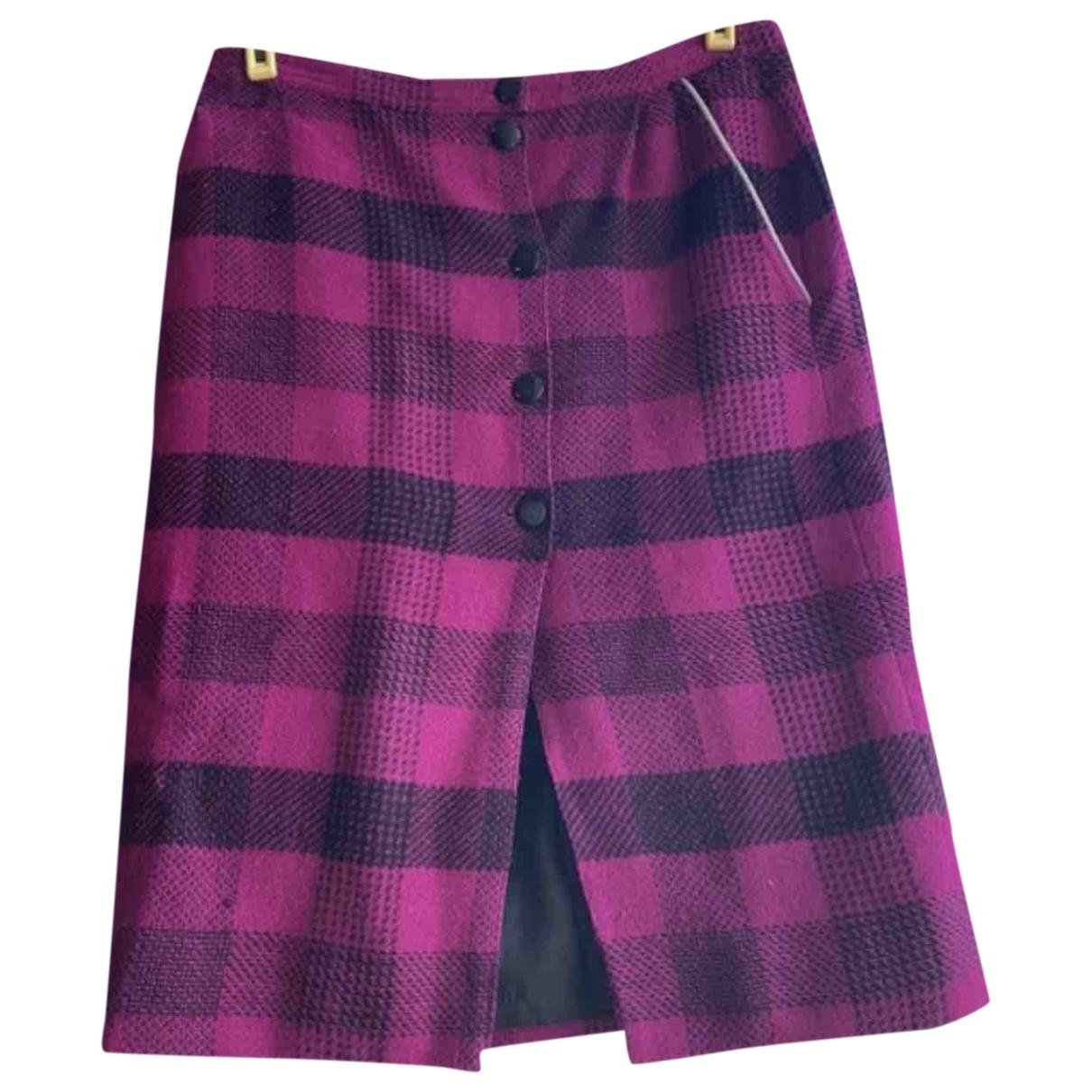 - Jupe   pour femme en tweed - violet
