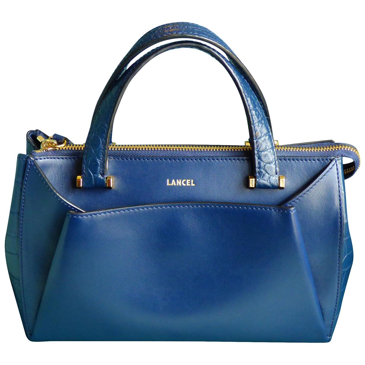 Lancel - Sac a main Lison pour femme en cuir - bleu