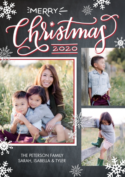 Christmas Photo Cards 5x7 Cards, Premium Cardstock 120lb, Card & Stationery -2020 Christmas Red Frame by Tumbalina