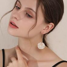 Textured Geo Design Stud Earrings