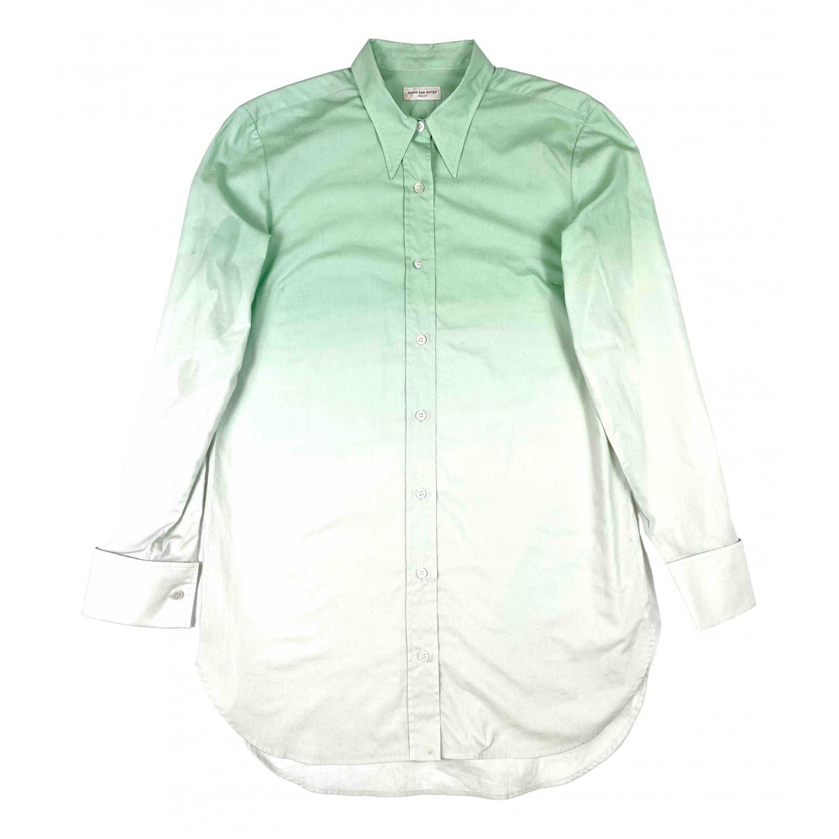 Dries Van Noten - Top   pour femme en coton - vert
