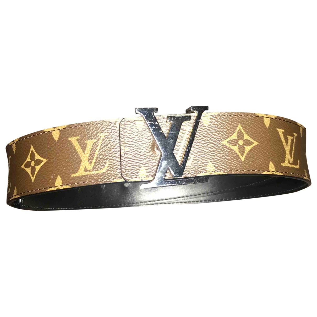 Louis Vuitton \N Brown Cloth belt for Men 90 cm