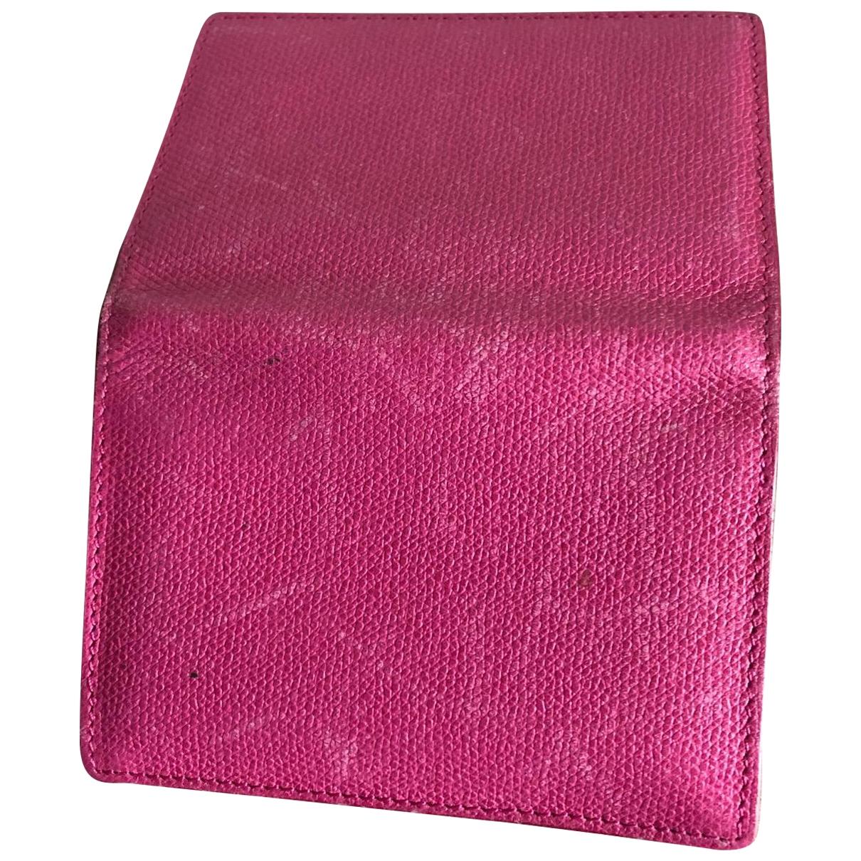 Smythson - Petite maroquinerie   pour femme en cuir - rose