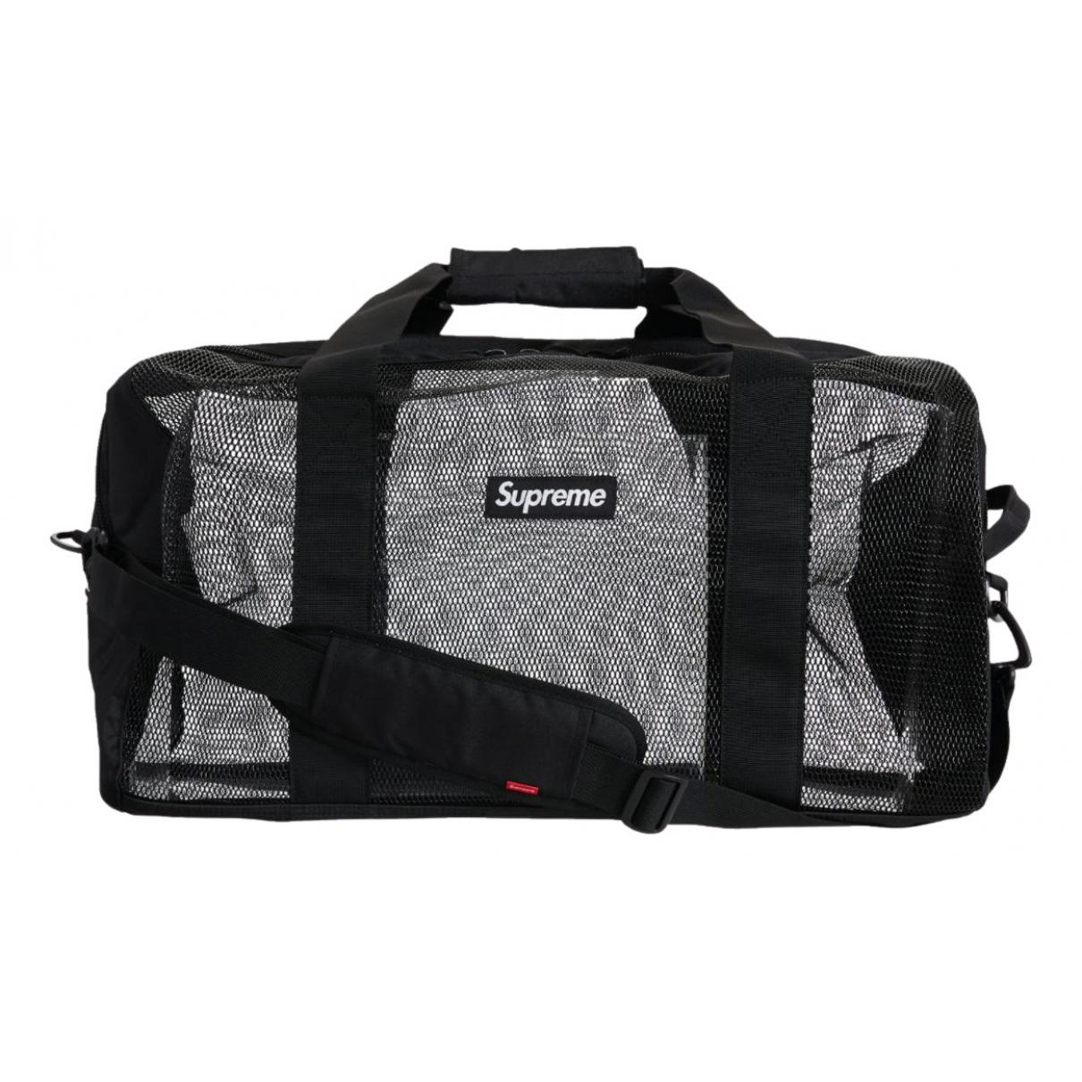 Supreme N Black Cotton bag for Men N