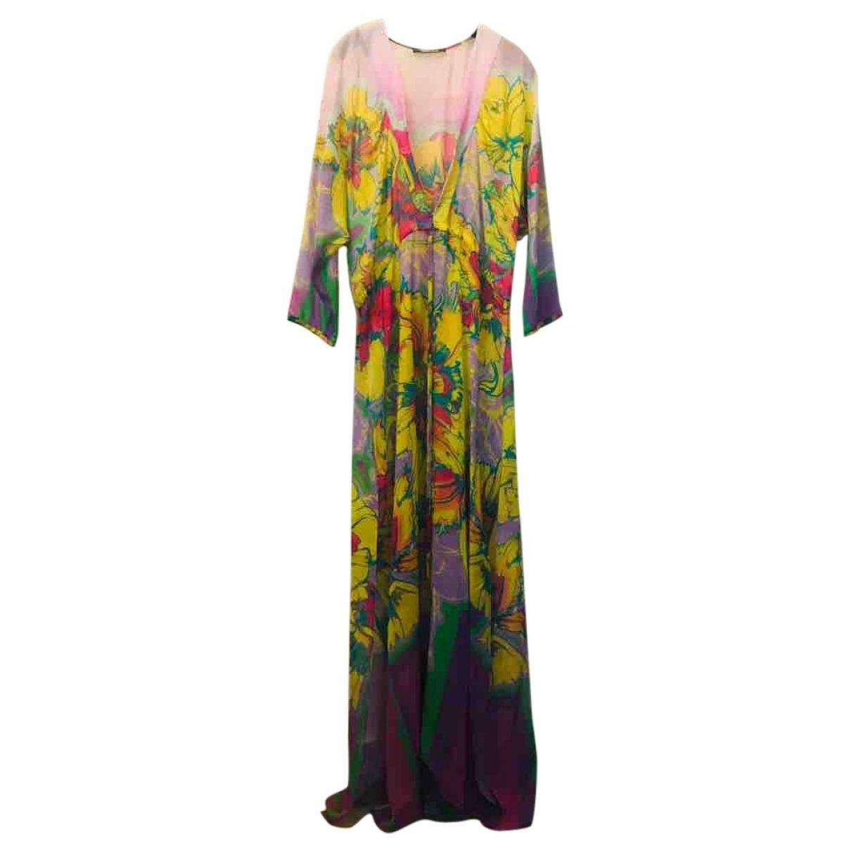 Roberto Cavalli \N Yellow Silk dress for Women 42 IT