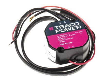 TRACOPOWER , 12W Embedded Switch Mode Power Supply SMPS, 24V dc, Encapsulated