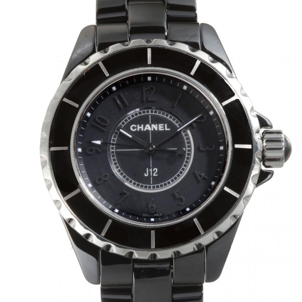 Chanel - Montre J12 Quartz pour femme en ceramique - noir