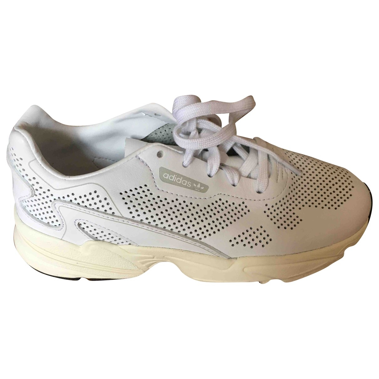 Adidas Falcon White Leather Trainers for Women 8.5 US