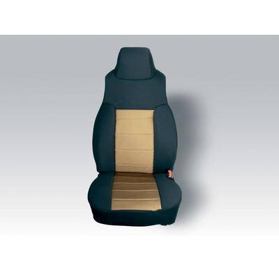 Rugged Ridge Custom Fit Neoprene Front Seat Covers (Black/Tan) - 13211.04