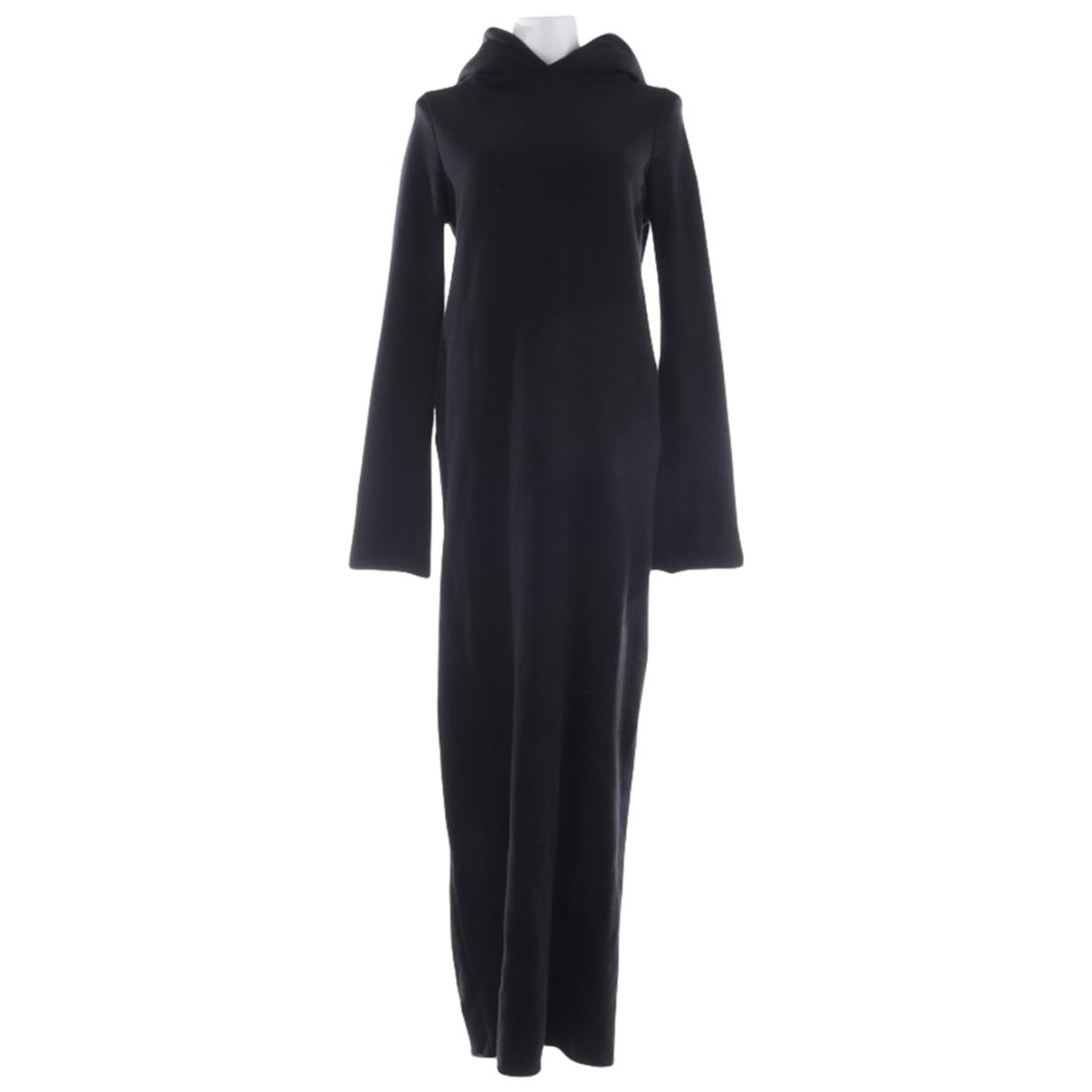 Vetements - Robe   pour femme en coton - noir