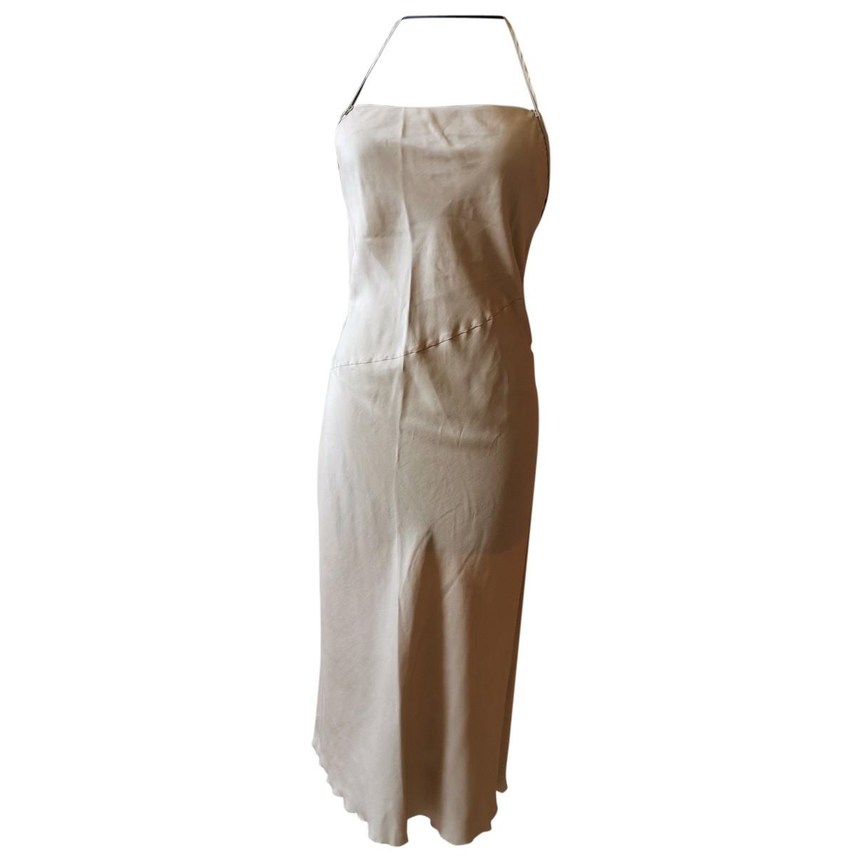 Costume National - Robe   pour femme en soie - beige