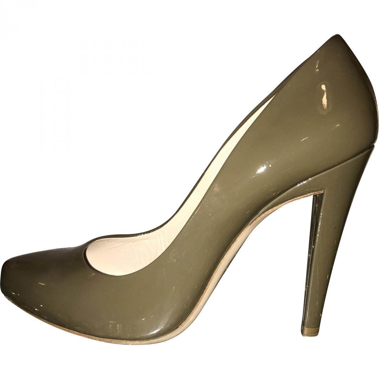 Miu Miu \N Khaki Patent leather Heels for Women 39.5 EU