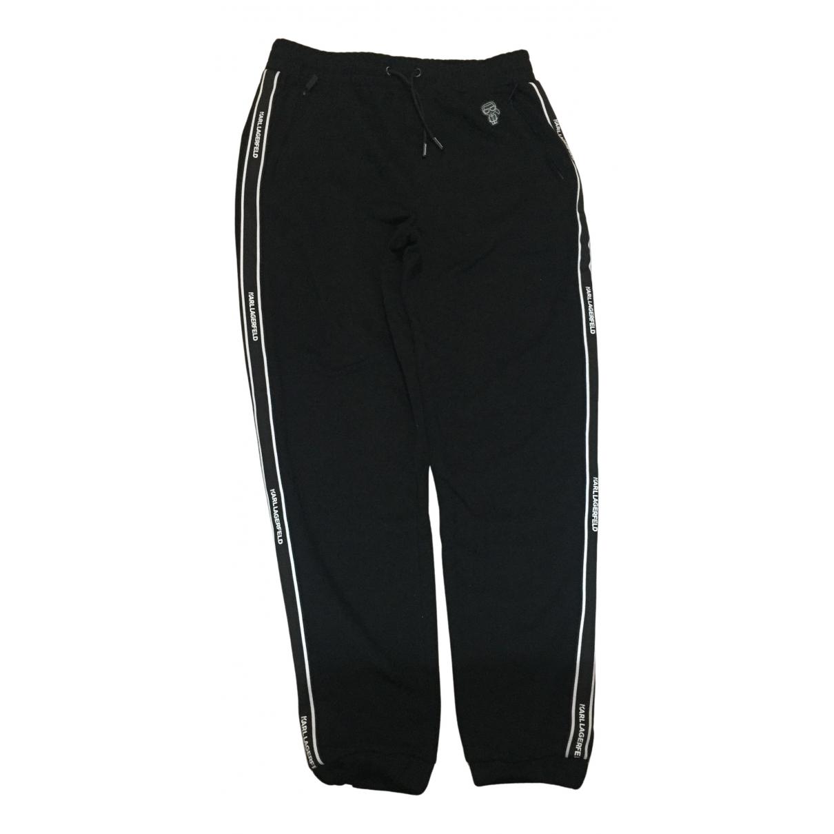 Karl Lagerfeld - Pantalon   pour homme en coton - noir