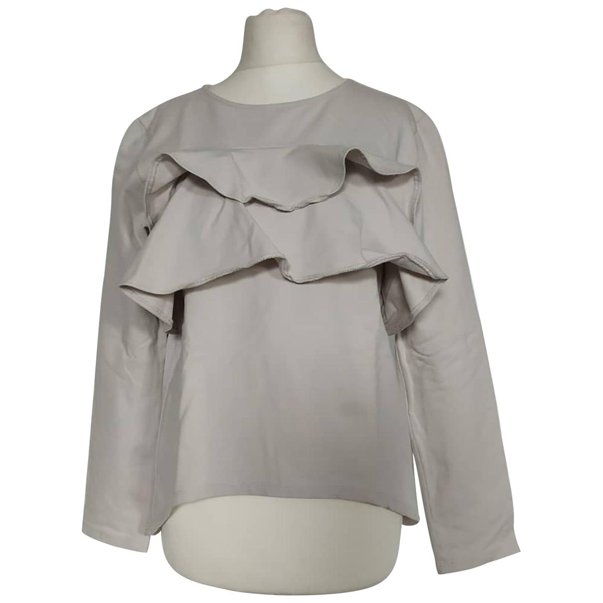 Douuod - Pull   pour femme en coton - gris