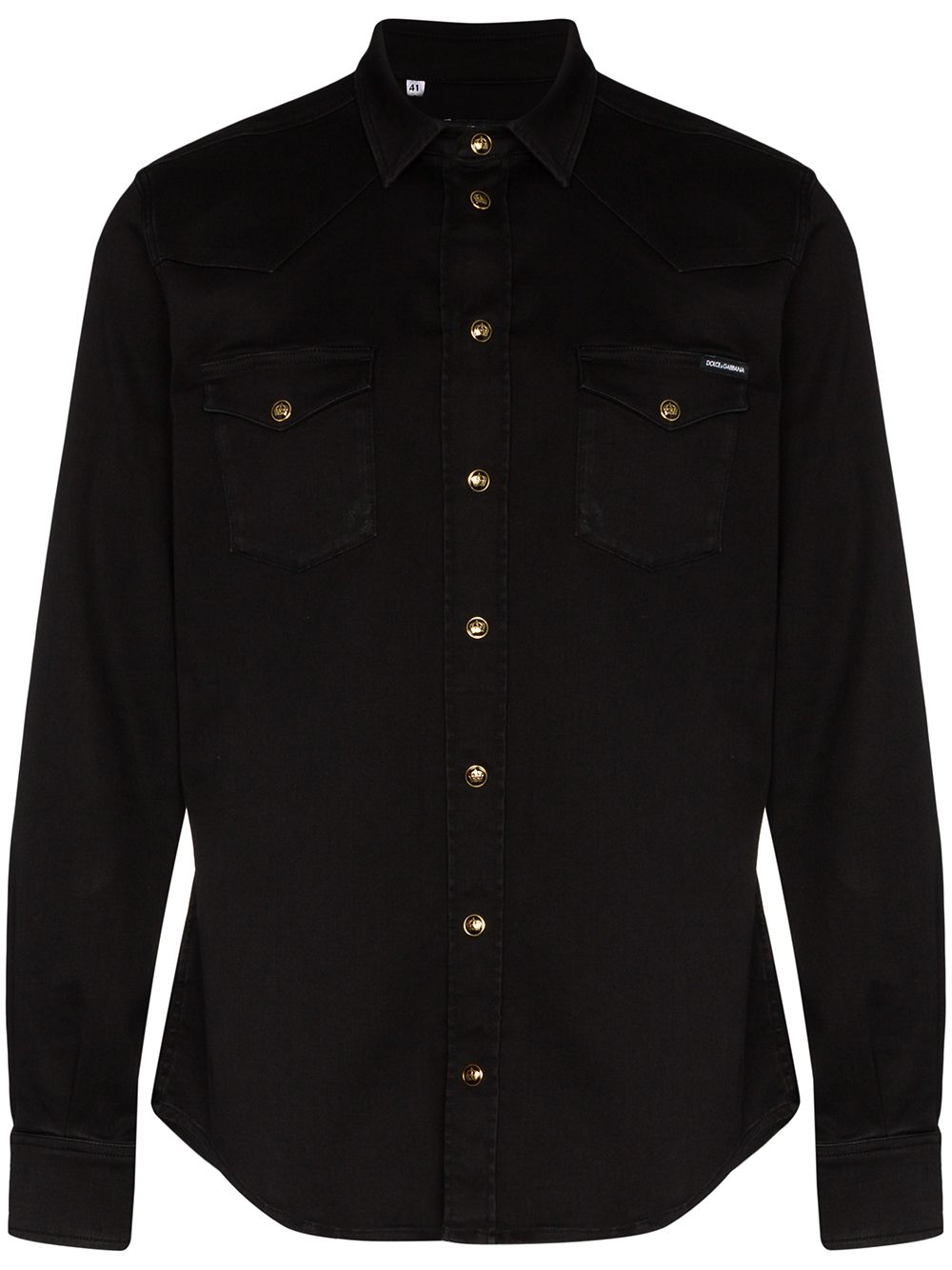 Shirt With Gold Buttons