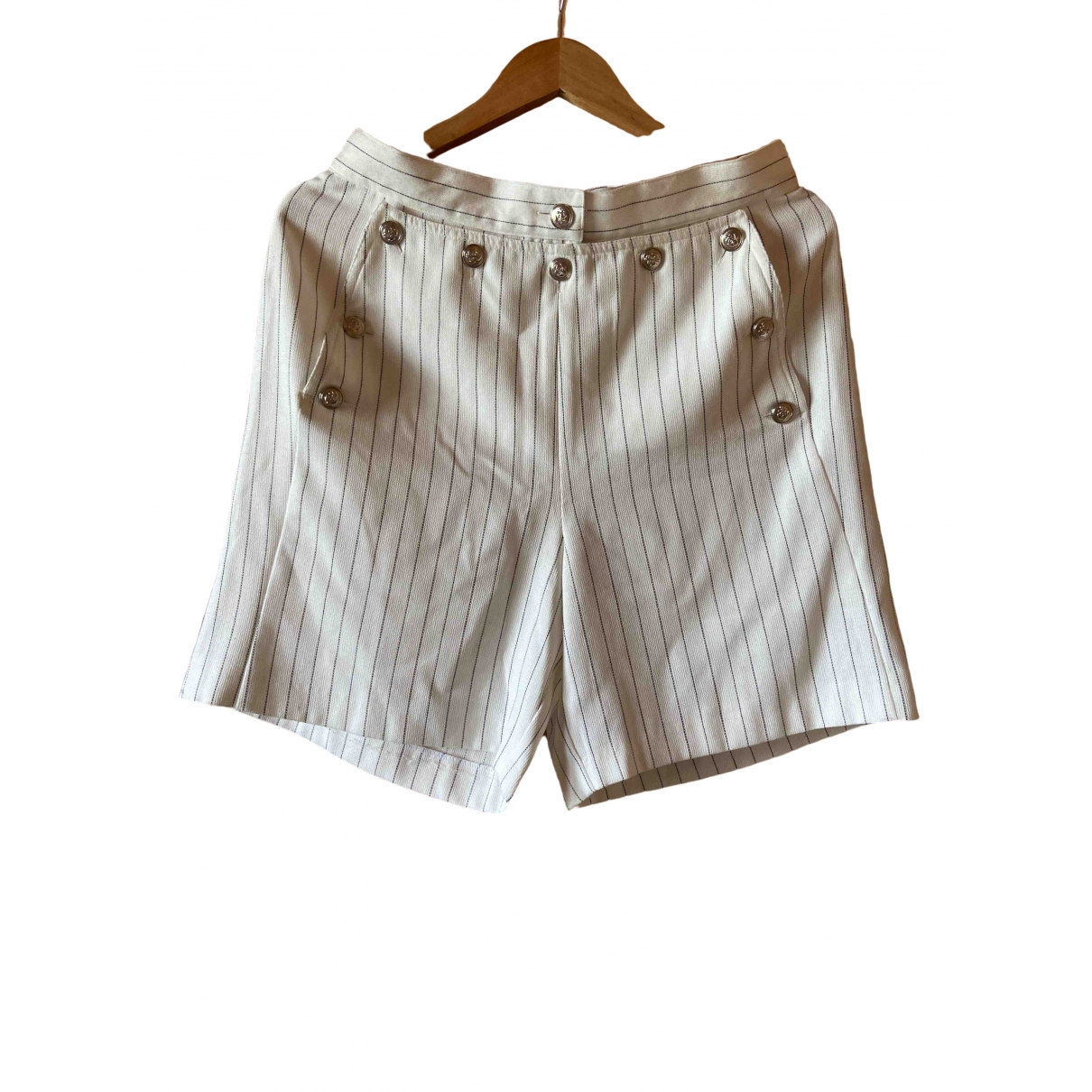 Non Signé / Unsigned \N White Shorts for Women XL International