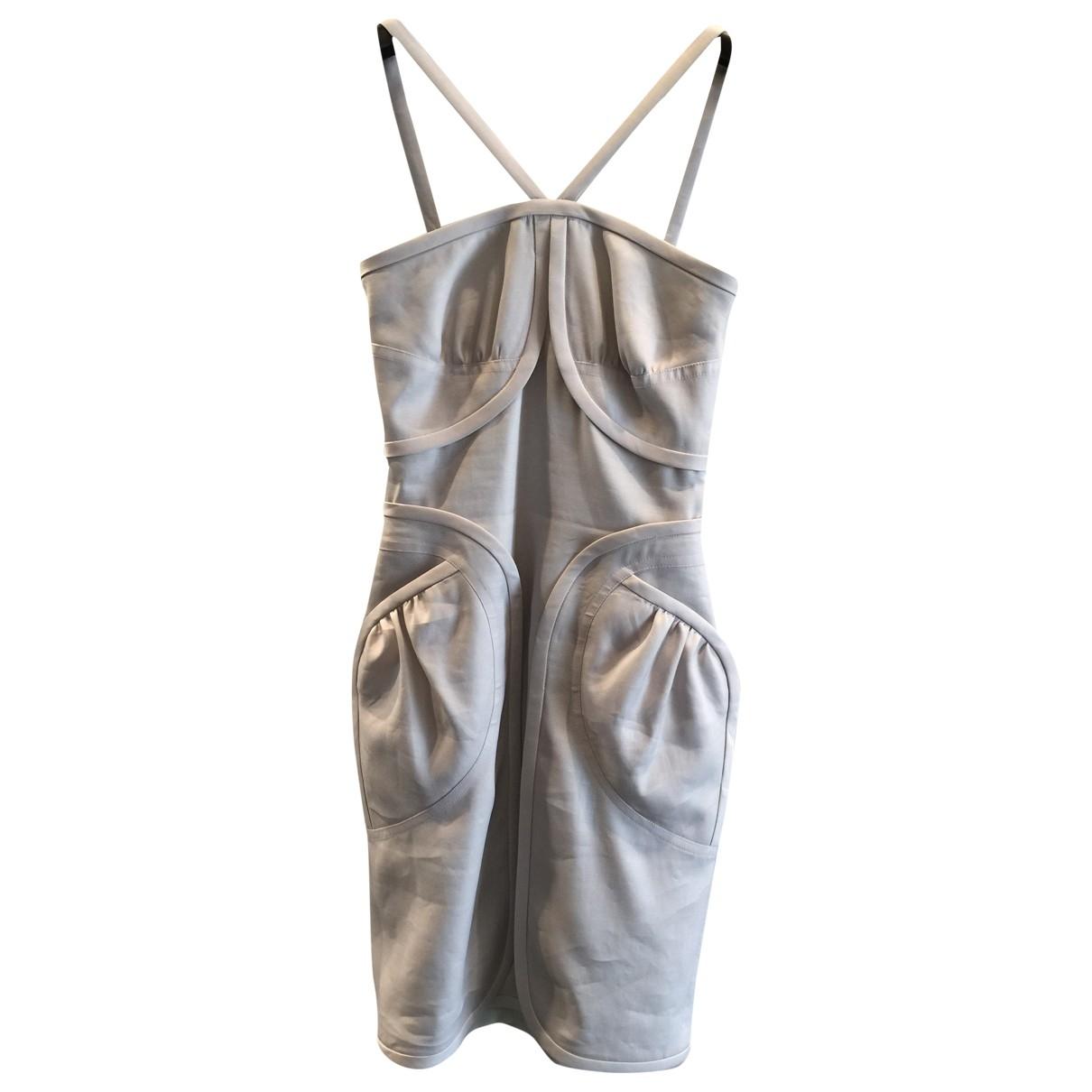 Fendi \N Grey Silk dress for Women 38 IT