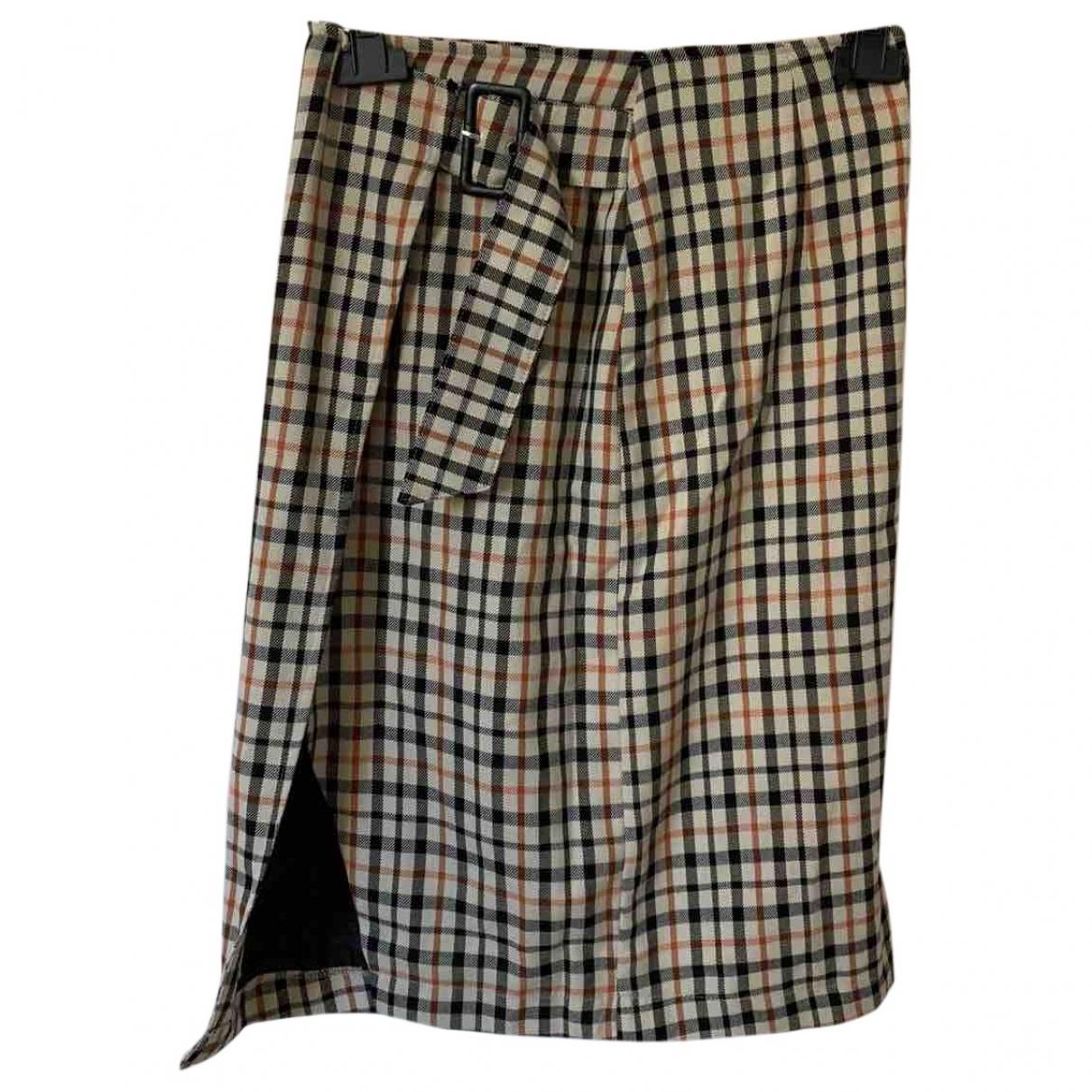 Non Signé / Unsigned \N Beige skirt for Women 36 FR