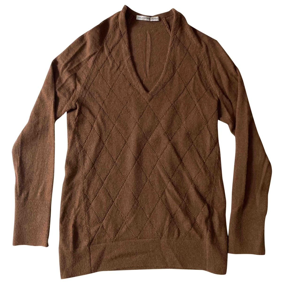 Balenciaga \N Camel Cashmere Knitwear for Women 36 FR