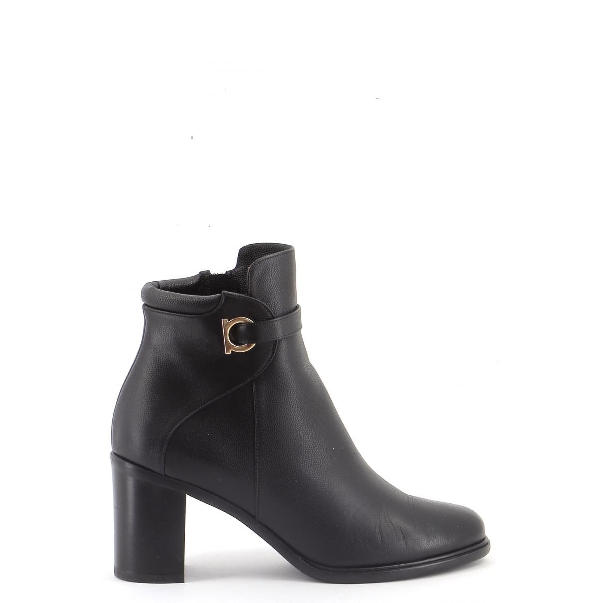Salvatore Ferragamo \N Black Leather Boots for Women 38 EU