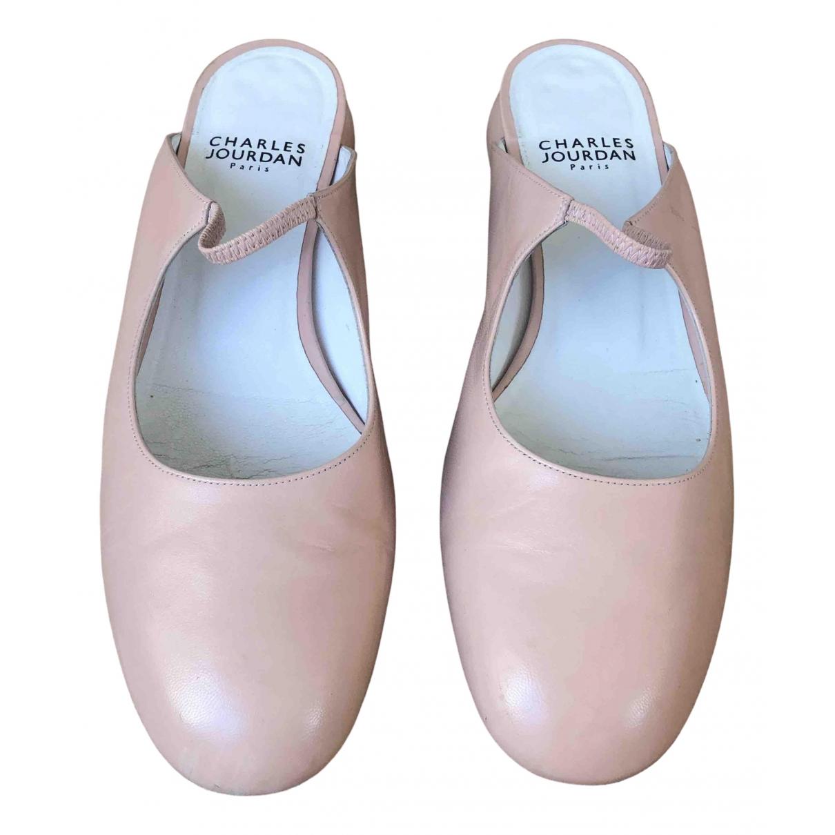 Charles Jourdan \N Ballerinas in  Rosa Leder