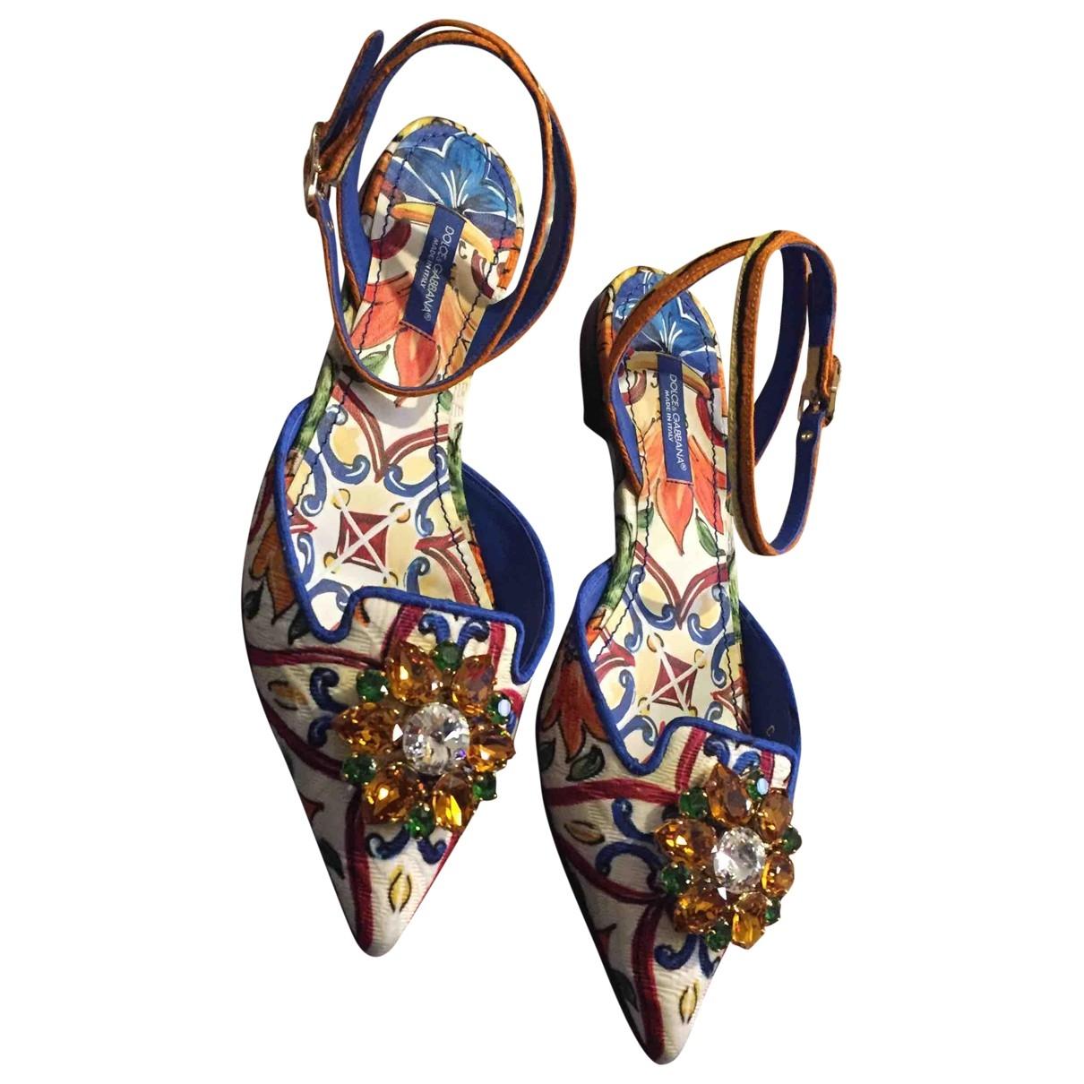 Dolce & Gabbana \N Multicolour Cloth Sandals for Women 36.5 EU
