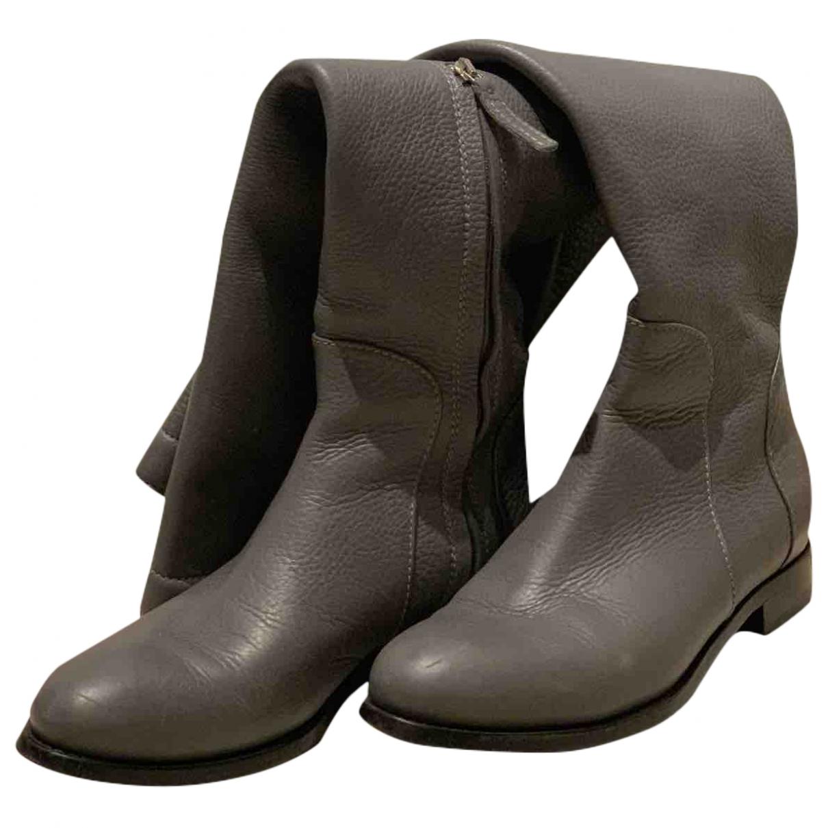 Ermanno Scervino - Bottes   pour femme en cuir - gris