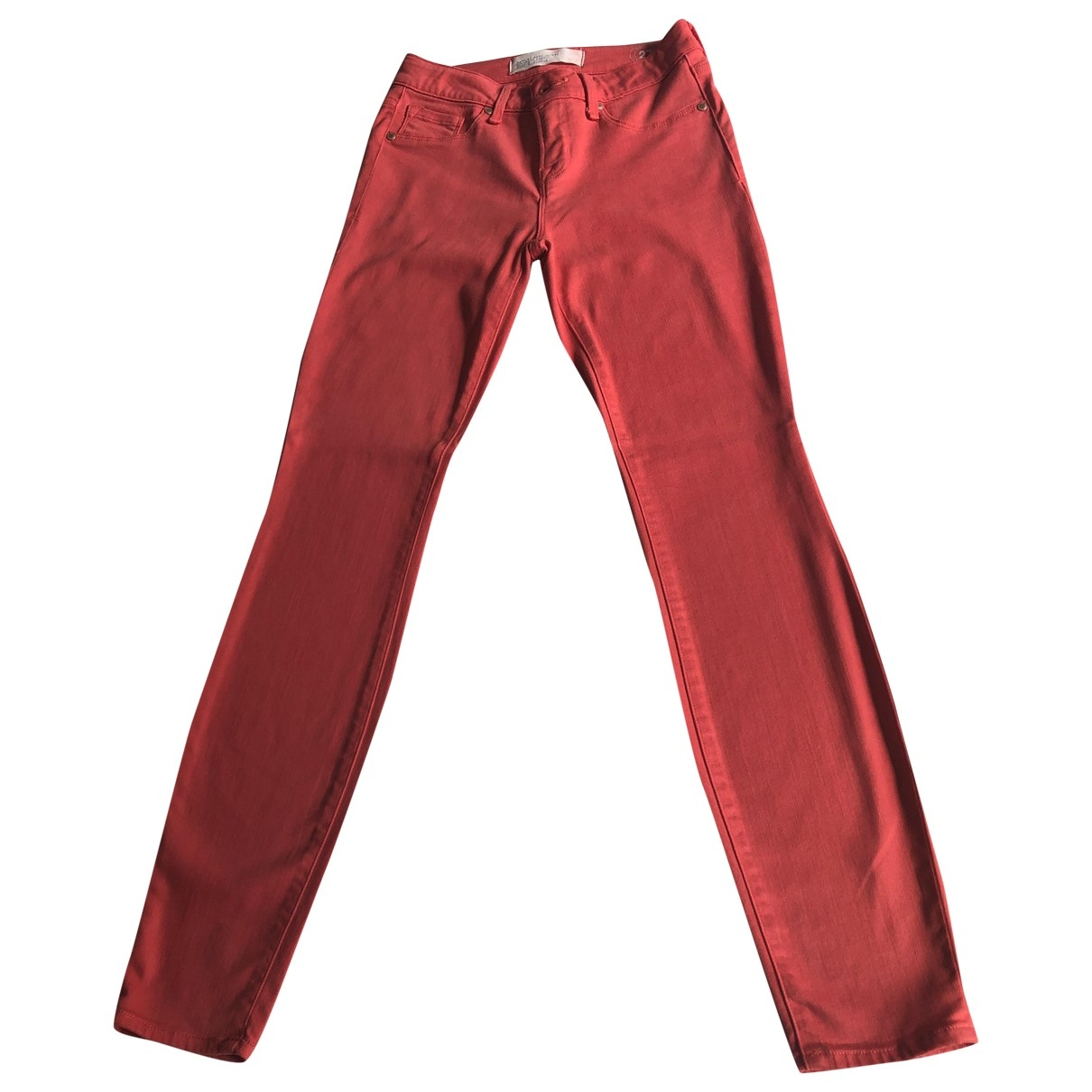 Marc By Marc Jacobs \N Red Spandex Trousers for Women 0 0-5