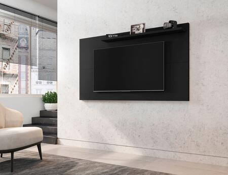Liberty Collection 221BMC8 TV Panel with 1 Fixed Shelf    Modern Style and Medium Density Particleboard (MDP) Frame in Matte Black