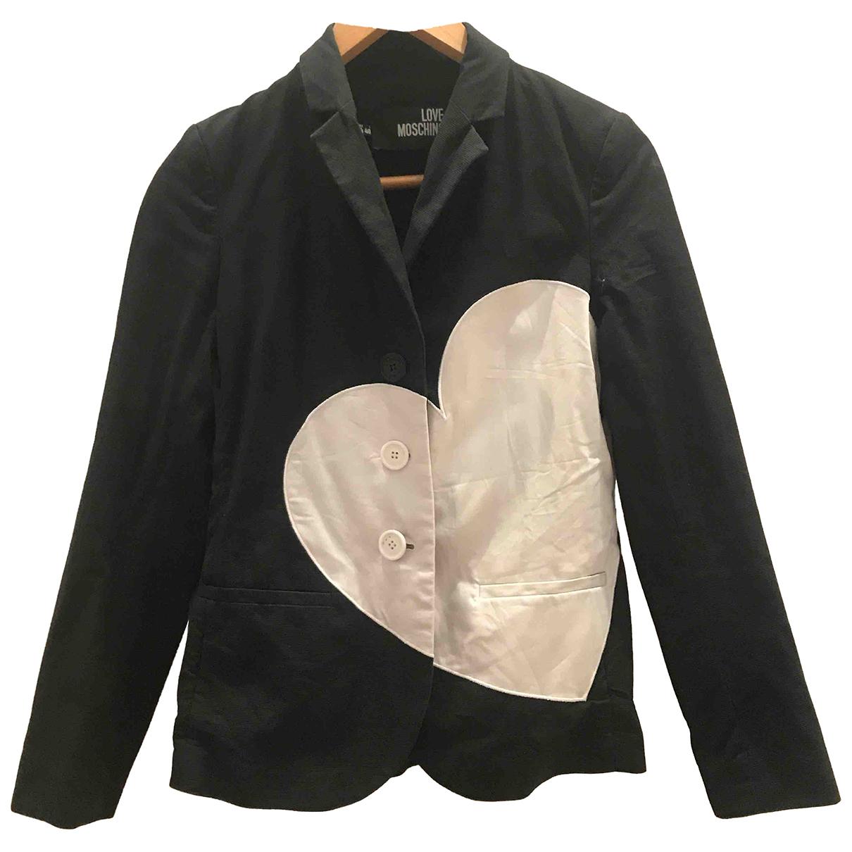 Moschino Love \N Jacke in  Schwarz Baumwolle