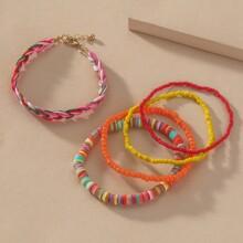 5pcs Colorful Beaded Bracelet