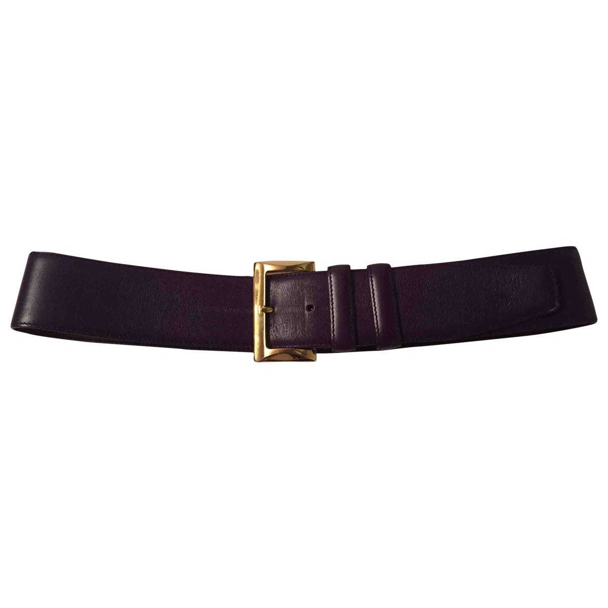 Prada \N Purple Leather belt for Women 75 cm