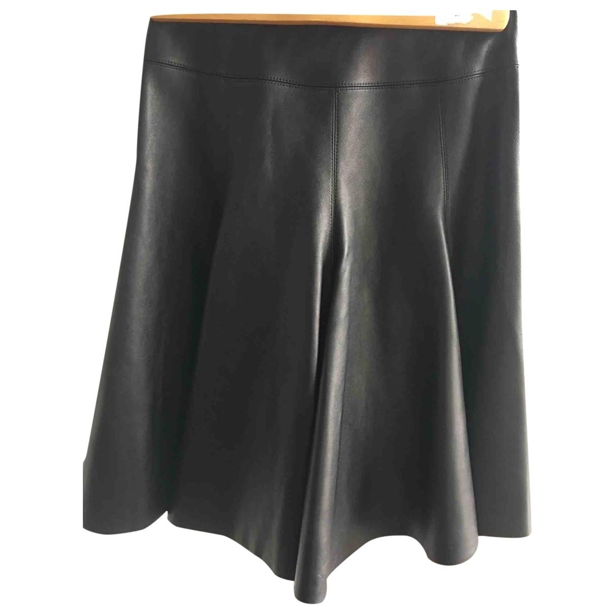 Falda midi de Cuero Alaia