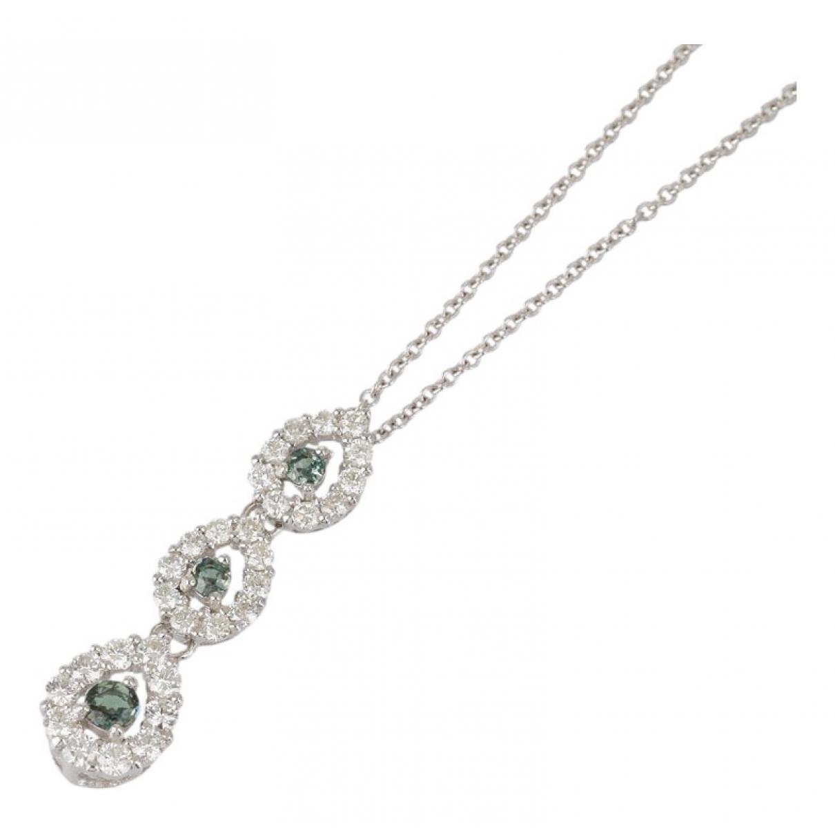- Collier   pour femme en or blanc - vert